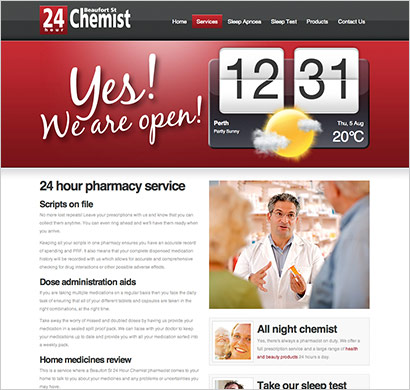 website design for chemists