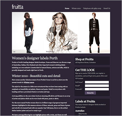 fashion boutique web design