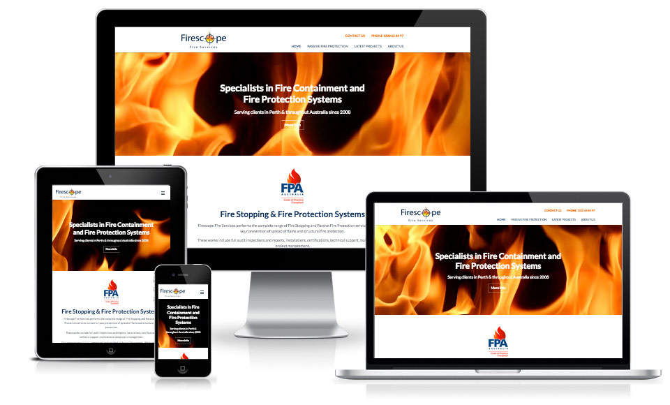 responsive business website design
