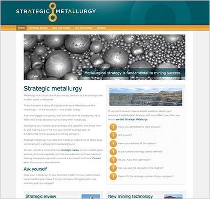 web design for strategic metallurgy
