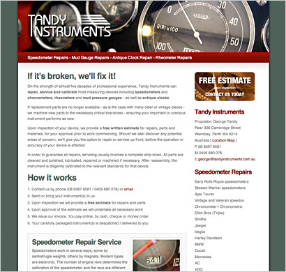 instrument repairs website