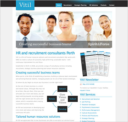 web design for Vitil